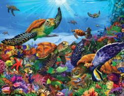 Amazing Sea Turtles Under The Sea Large Piece
