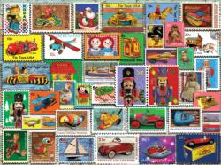 Christmas Toy Stamps Collage Jigsaw Puzzle