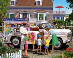 Ice Cream Truck Fourth of July Jigsaw Puzzle