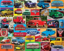Classic Ford Pickups Nostalgic / Retro Jigsaw Puzzle