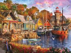 Harbor Evening Sunrise / Sunset Jigsaw Puzzle