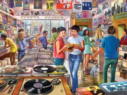 Vintage Record Store Nostalgic / Retro Jigsaw Puzzle
