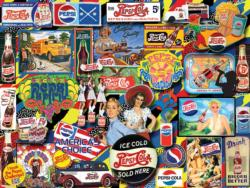 Vintage Pepsi Collage Jigsaw Puzzle