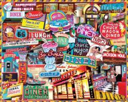 Retro Diner Nostalgic / Retro Jigsaw Puzzle