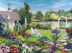 By The Pond Lakes / Rivers / Streams Jigsaw Puzzle