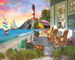 Beach Vacation Seascape / Coastal Living Jigsaw Puzzle