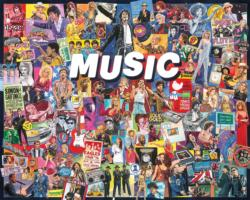 Music - Scratch and Dent Collage Jigsaw Puzzle
