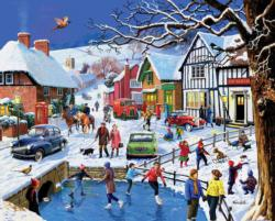 Festive Village Winter Jigsaw Puzzle