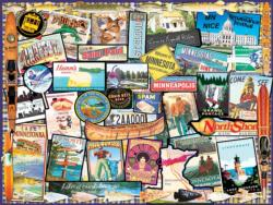 I Love Minnesota Collage Jigsaw Puzzle