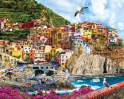 Cinque Terre, Italy Seascape / Coastal Living Jigsaw Puzzle