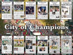 Boston City of Champions Magazines and Newspapers Jigsaw Puzzle