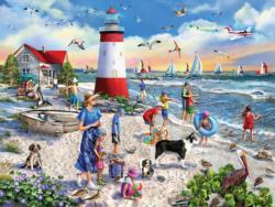 Lighthouse Beach Lighthouses Jigsaw Puzzle