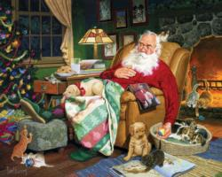 Santa's Naptime - Scratch and Dent Christmas Large Piece