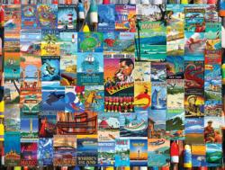 I Love Islands Seascape / Coastal Living Impossible Puzzle