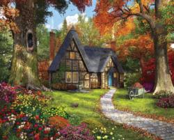 Autumn Cottage - Scratch and Dent Cottage / Cabin Jigsaw Puzzle