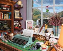 Writer's Desk Nostalgic / Retro Jigsaw Puzzle
