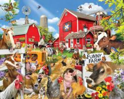 Funny Farm Seek & Find Pig Jigsaw Puzzle