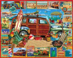 Surfin' Woodie Cars Jigsaw Puzzle