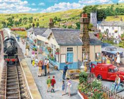 Village Station Trains Jigsaw Puzzle
