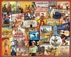 Cowboys Nostalgic / Retro Jigsaw Puzzle