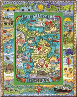 Michigan United States Jigsaw Puzzle