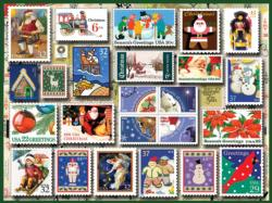 Holiday Stamps Collage Jigsaw Puzzle