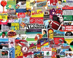 I Love Alabama Collage Jigsaw Puzzle