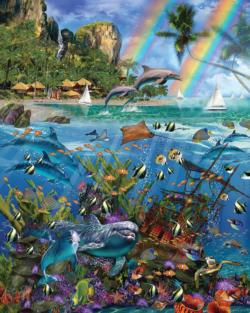 Tropical Treasures Dolphins Jigsaw Puzzle