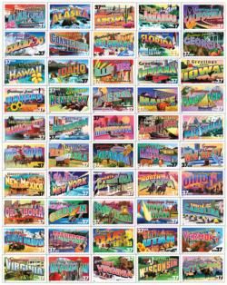 State Greetings Stamps Collage Impossible Puzzle