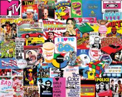 I Love the 1980s Collage Jigsaw Puzzle