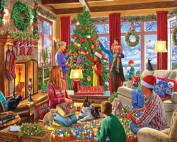Decorating The Tree Domestic Scene Jigsaw Puzzle
