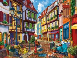 Old World Street Nostalgic / Retro Jigsaw Puzzle