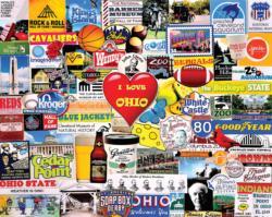 I Love Ohio Collage Large Piece