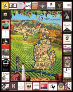 Michigan Wine DUPE Adult Beverages Jigsaw Puzzle