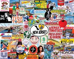 I Love New Jersey Collage Large Piece