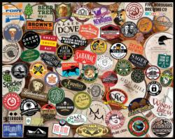 NY Craft Beers Adult Beverages Jigsaw Puzzle