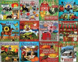 Farm Calendar Farm Jigsaw Puzzle