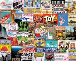 Places I Went As A Kid Collage Jigsaw Puzzle