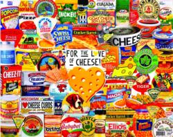 I Love Cheese Collage Large Piece