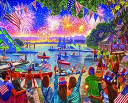 4th Fireworks Lakes / Rivers / Streams Jigsaw Puzzle