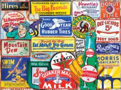Classic Signs - Scratch and Dent Collage Jigsaw Puzzle