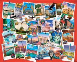 Snapshots of America United States Large Piece
