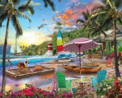 Beach Holiday Seascape / Coastal Living Large Piece