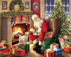 Santa's New Friend Christmas Large Piece