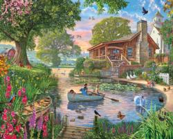 Peaceful Pond Lakes / Rivers / Streams Large Piece