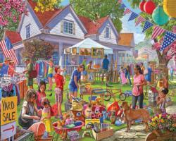 Yard Sale Domestic Scene Jigsaw Puzzle