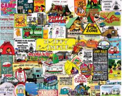 Happy Campers Pattern / Assortment Jigsaw Puzzle