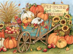 Harvest Wheelbarrow Fall Jigsaw Puzzle