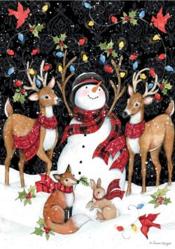 Snowy Lights Christmas Jigsaw Puzzle