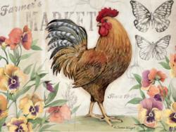 Proud Rooster Birds Jigsaw Puzzle